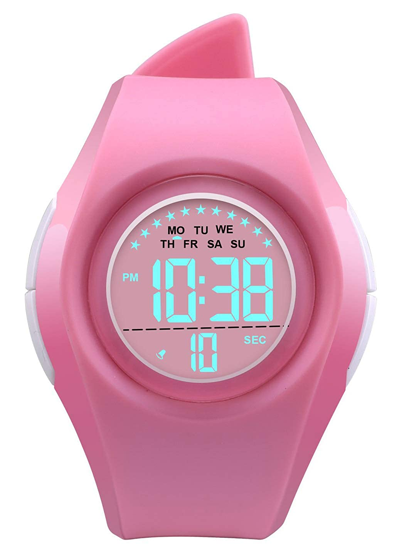 43005cd75 Amazon.com: Kids Digital Sport Watch Outdoor Waterproof Watch LED Alarm  Stopwatch Child Wristwatch,Toddler Child Watch for Age 3-10Wrist Boys, ...