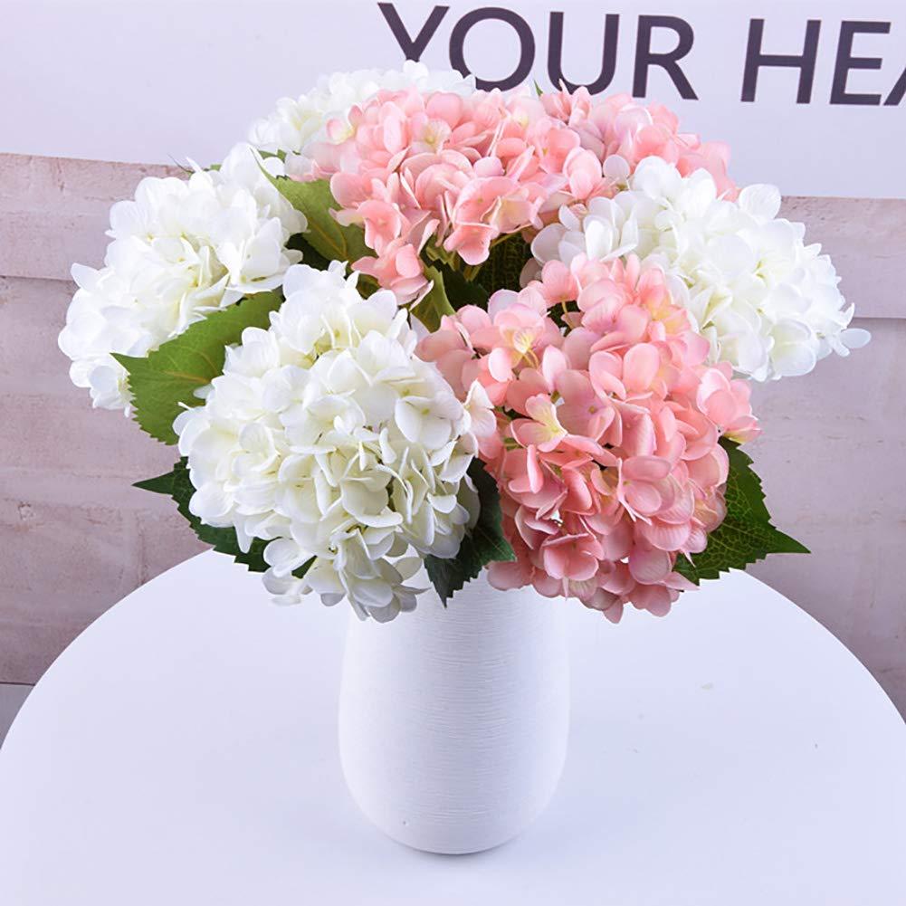 Artificiale Fiori di Ortensia Grandi Teste Seta Mazzo Bouquet casa della Festa Nuziale della Bianca