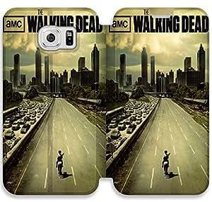 Samsung Galaxy S6 funda,NSDFIUOSR2619 Flip cubierta y soporte para Samsung Galaxy S6 - The Walking Dead