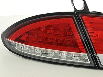 Fk Automotive Fkrlxlse010009 Led Rückleuchten Fit For Seat Leon Typ 1p Baujahr 05 Rot Klar Auto