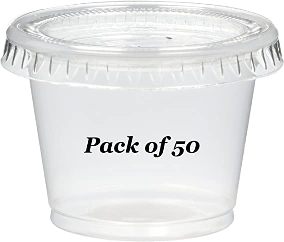 2-Ounce 40-Pack Polar Ice PIJS040200 Jello Shot Souffle Cups with Lids Translucent