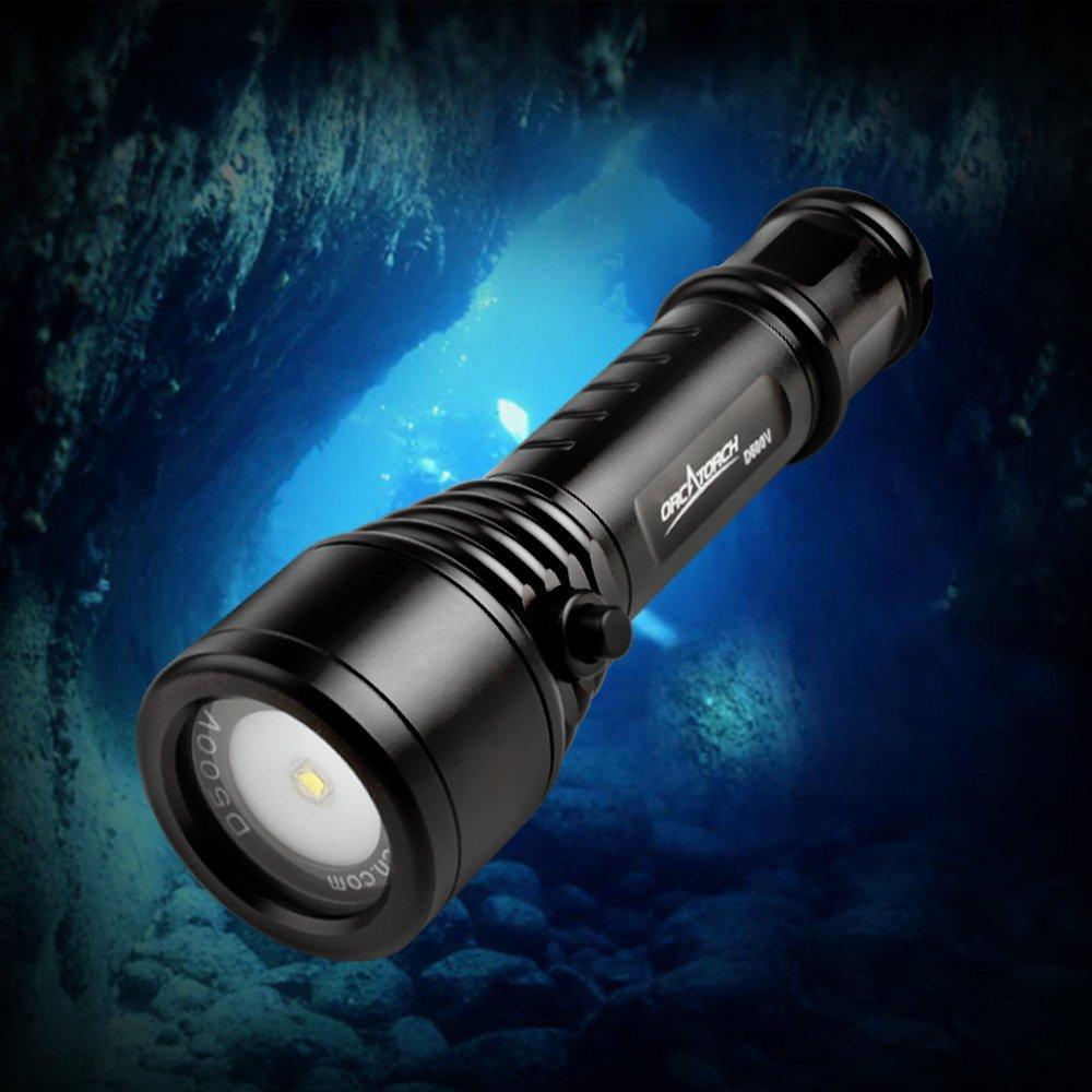ORCATORCH Scuba Diving写真ビデオライト120度スーパーワイドビーム角度1000ルーメンUnderwater 150 mダイビングと屋外の照明   B07BXH9726