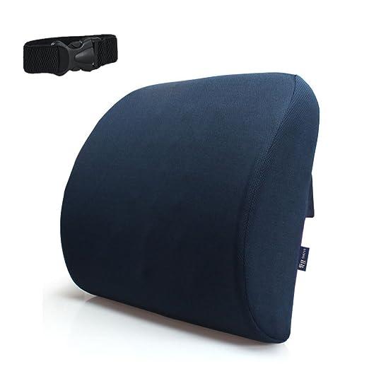 Cojín de soporte lumbar Diseño ortopédico para dolor de espalda Alivio de la ciática, hueso de cola, coxis y dolor de cadera Cojín trasero Soporte ...