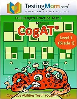 Amazoncom Cogat Test Prep Workbook Grade 1 Level 7 Full