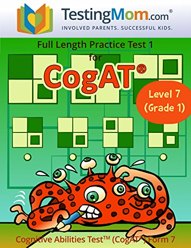 CogAT Test Prep Workbook – Grade 1 (Level 7) – Full Length Practice Test (Com 1)