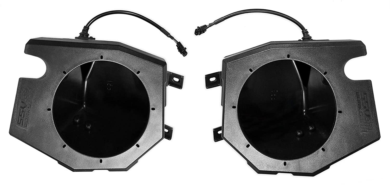 Kicker 6.5 LED Speakers for 2014-18 Polaris RZR 1000//900S//Turbo+Speaker Pods.