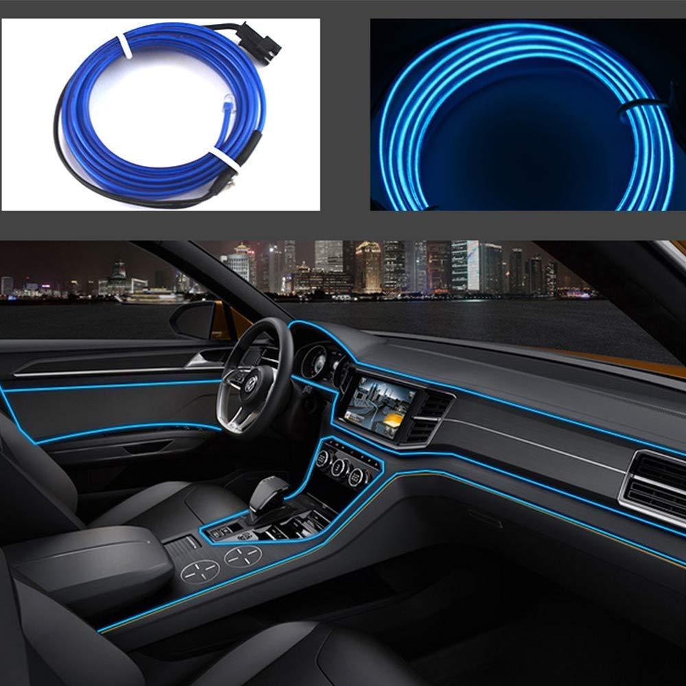 Hilos de neon azules led para el coche interior