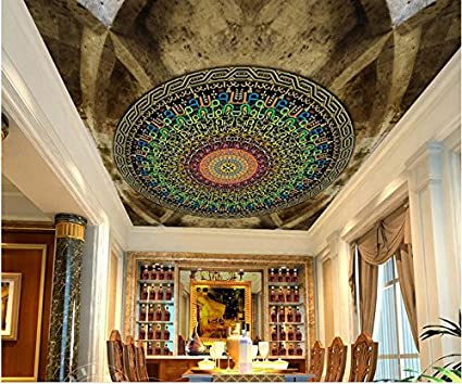 Lqwx custom 3d ceiling photo wall murals circle race family pattern 3d ceiling murals wallpaper living
