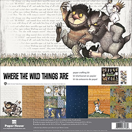 Paper House Productions KTSP-1043E Paper Crafting Kit, Where The Wild Things Are (3-Pack)