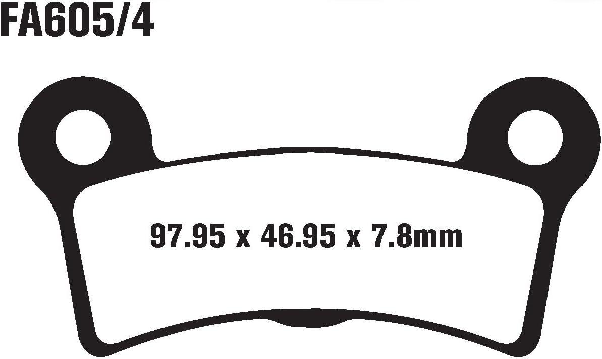 EBC Brakes FA605//4V Semi Sintered Disc Brake Pad