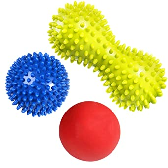 Schmerzlinderung f/ür Hacken /& Fu/ßgew/ölbe,Stressreduzierung und Entspannung durch Triggerpunkt-Therapie Muskel Roller /& Fu/ßmassage Balls RIGHTWELL Fu/ßmassage f/ür Plantarfasziitis