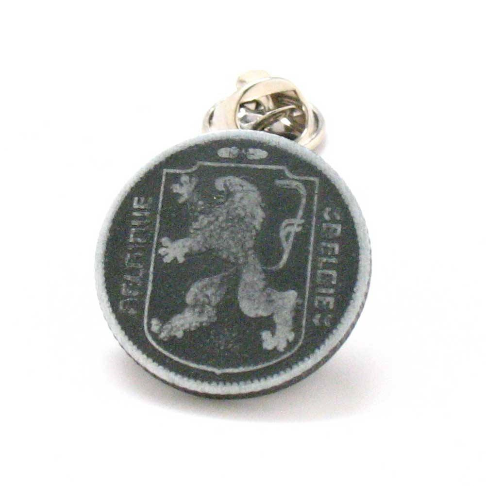 Belgium Coin Tie Tack Lapel Pin Vintage Belgie Belgique juwelen vlag dasspeld Reversspeldje Brussels