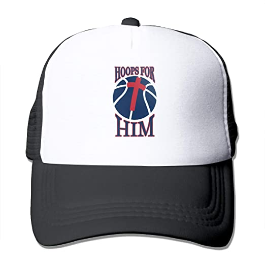 Mesh Sports Baseball Caps Hoops for Him Basketball Adjustable Trucker Sun Hats  for Running Outdoor Black 180cd7a5f48