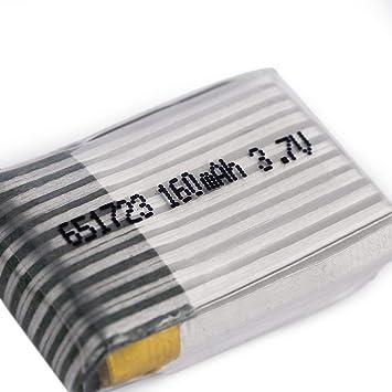 1 Pc Modèle de Batterie Lipo 3.7V 160Mah 20C 651723 Pour FPV RC Molex 51005 1T