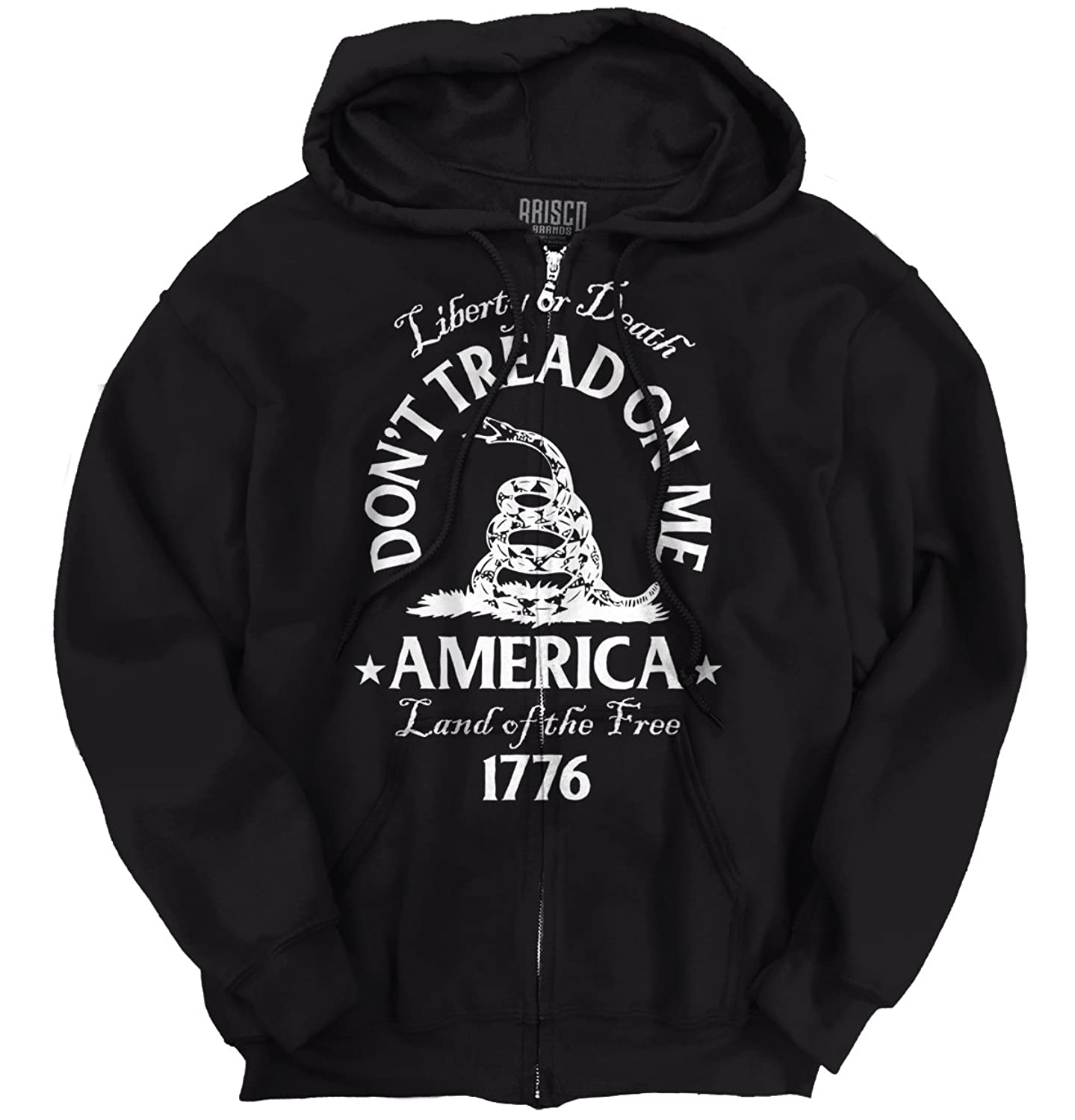bcb08556 Don't Tread on Me Gadsden Snake Flag Political T USA Patriot Zip Hoodie best
