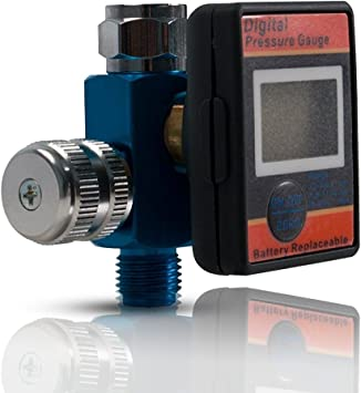 Pressure Regulator Air Control Compressor Pneumatic Filter w//Fitting 1//4in GOOD