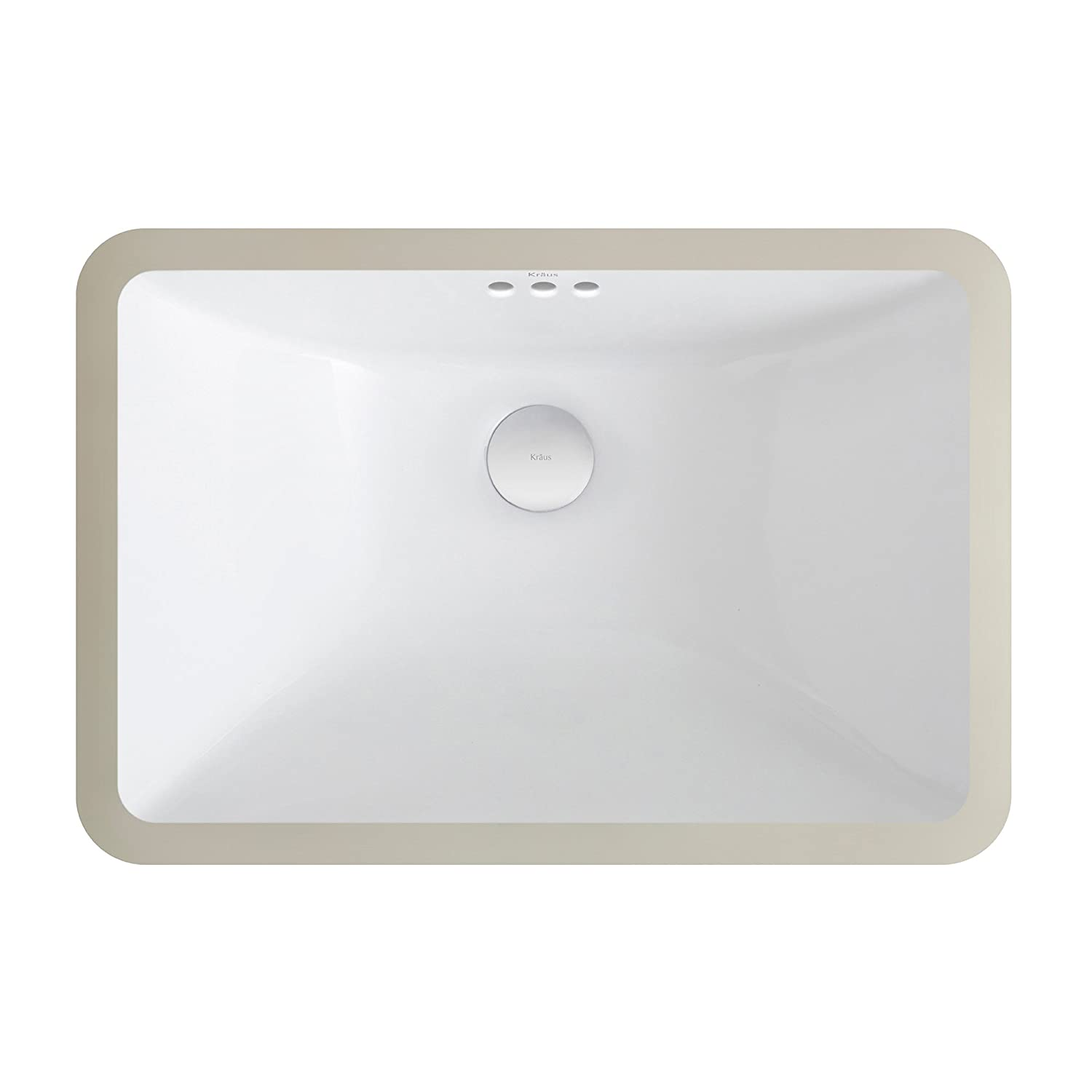 Kraus KCU 241 Elavo Ceramic Small Rectangular Undermount Bathroom