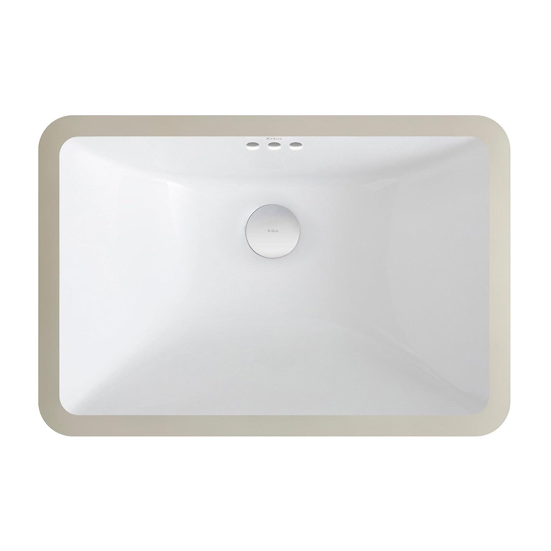 Small rectangular bathroom sink - Kraus Kcu 241 Elavo Ceramic Small Rectangular Undermount Bathroom Sink With Overflow White Amazon Com