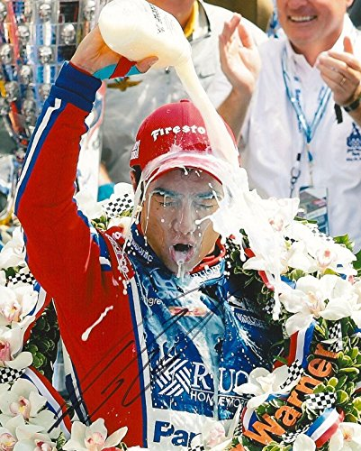 TAKUMA SATO signed 8x10 INDY 500 MILK photo IRL INDY with COA A - Autographed Extreme Sports Photos ()