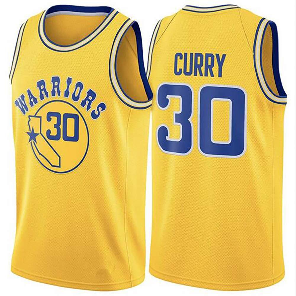 Kangrui Golden/_State/_Warriors #30/_Stephen Curry Jersey Basket-Ball Uniform Maillots de Supporter Confortables /à S/échage Rapide pour Joueurs de Basket et Fans de Basket
