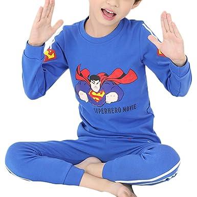 d46bb63e6 Amazon.com  Superman Pyjamas Set Boys Winter Nightwear Kids Pyjama ...