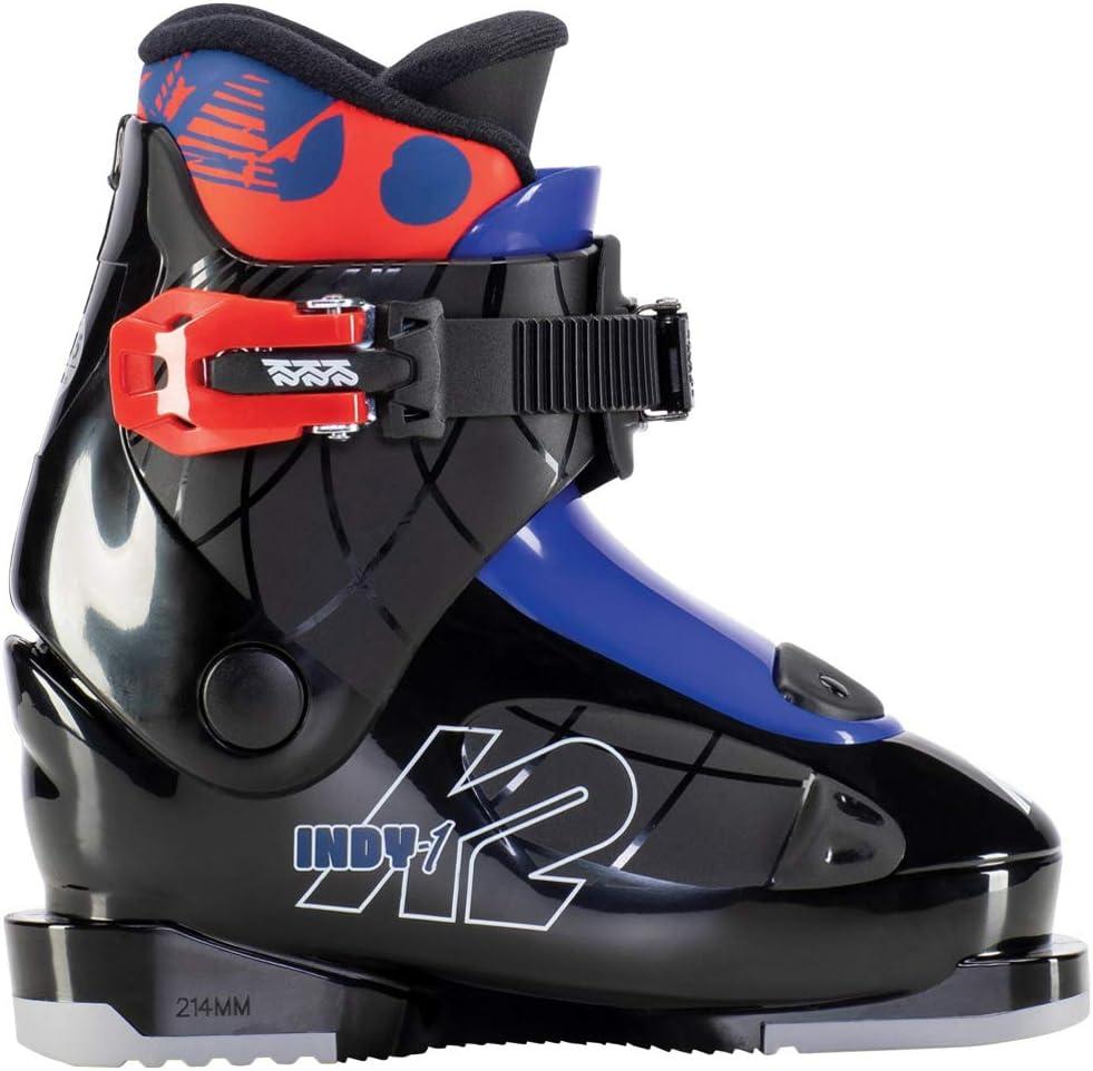 K2 Boys' Indy - 1 Ski Boots, Black