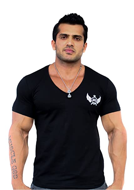 30db7329c Buy Muscle God Men's Cotton T-Shirt Online at Low Prices in India ...
