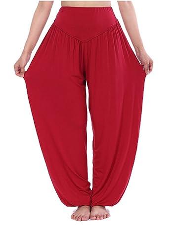 Hoerev® super doux spandex modal pantalon harem yoga pilates 80231cf44710