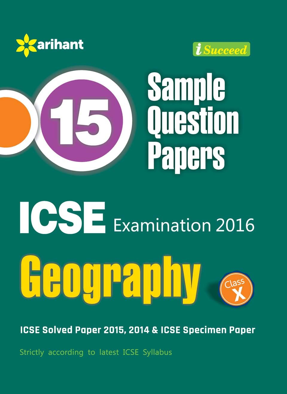 Amazon.in: Buy 15 Sample Question Papers ICSE Geography Class 10th (Old  Edition) Book Online at Low Prices in India | 15 Sample Question Papers ICSE  ...