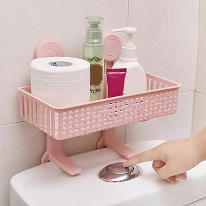 yjydada new hanging bathroom kitchen utensil box hot rag storage rack pink - Pink Kitchen Accessory