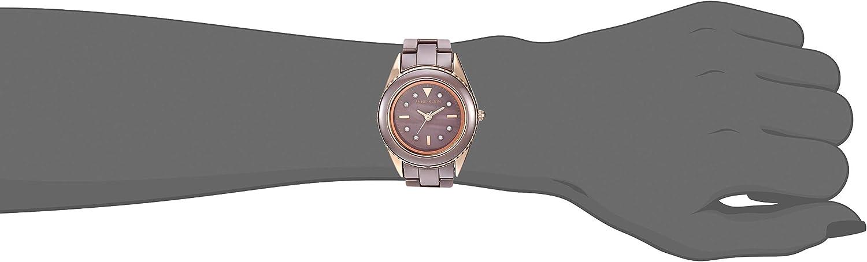 Anne Klein Women's Swarovski Crystal Accented Ceramic Bracelet Watch Mauve/Rose Gold