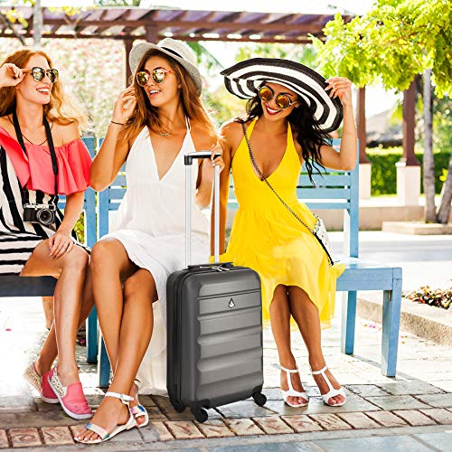 Large Capacity Maximum Allowance 22x14x9 Airline Approved by Delta United Southwest & More Carry On Luggage Bag | Rolling Travel Suitcase | Lightweight Small Hard Shell Trolley | 22x14x9 (All parts)