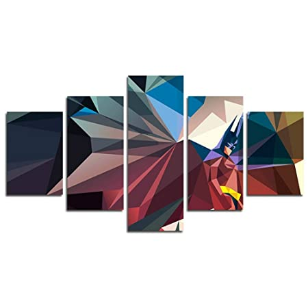 Leyruk 48 Piece Superman Abstract Painting Living Room At Home Canvas Stunning Graphic Design At Home Decoration