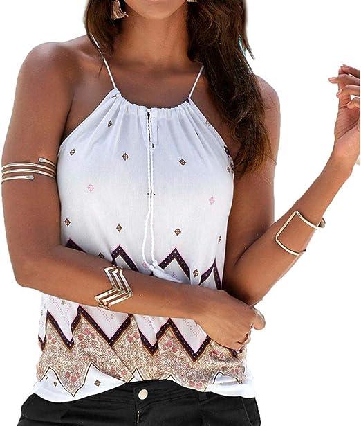 DDbrand Mujer Vacaciones Cuello en V Blusa Floral Top Mujer ...