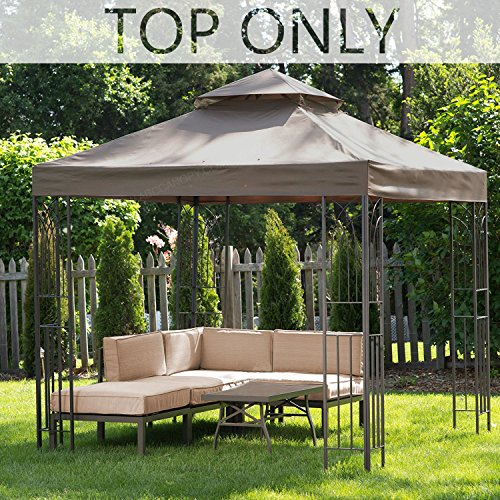 MASTERCANOPY Gazebo Replacement Canopy Top 8×8ft Replacement Canopy roof for Model L-GZ385PST Review