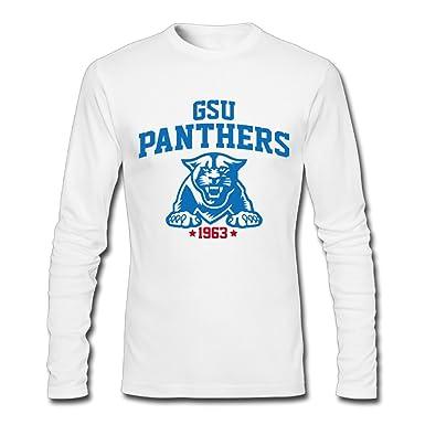 Amazon.com  Men s Georgia State Panthers Long Sleeve T-shirts S White   Clothing bbeb4fe02