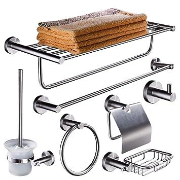YONGMEI Juego de accesorios de baño de acero inoxidable ...
