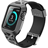 Apple Watch 2 Case, i-Blason Unity Series Premium Protective Bumper Protective Case [Updated Version] for Apple Watch 38 mm 2016 Release [Compatible with Apple Watch 38 mm First Generation] (Black)