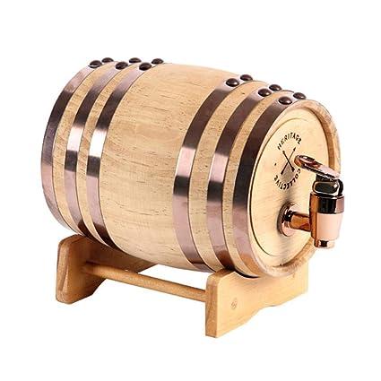 Woode Barril de Vino Madera Dispensador de Roble 1.5 litros Forro de Papel de Aluminio Incorporado