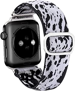 Elastic Apple Watch Bands Compatible with Apple Watch 38mm 40mm 42mm 44mm, Soft Stretch Elastics Wristbelt Replacement Wristband for iWatch Series 6/5/4/3/2/1 with Adjustable Buckle