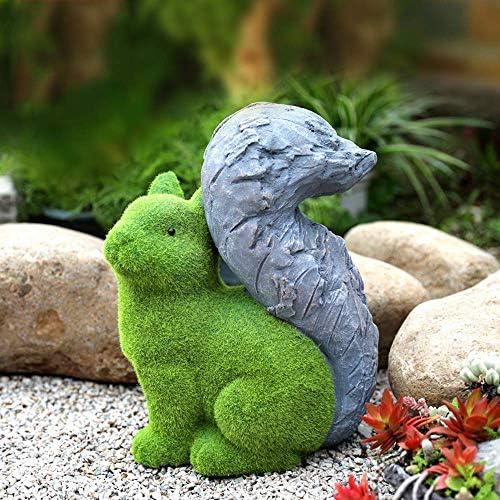 庭の装飾模擬植毛動物防水樹脂庭の庭の風景芝生装飾工芸品ギフトG:28 * 19 * 37 cm