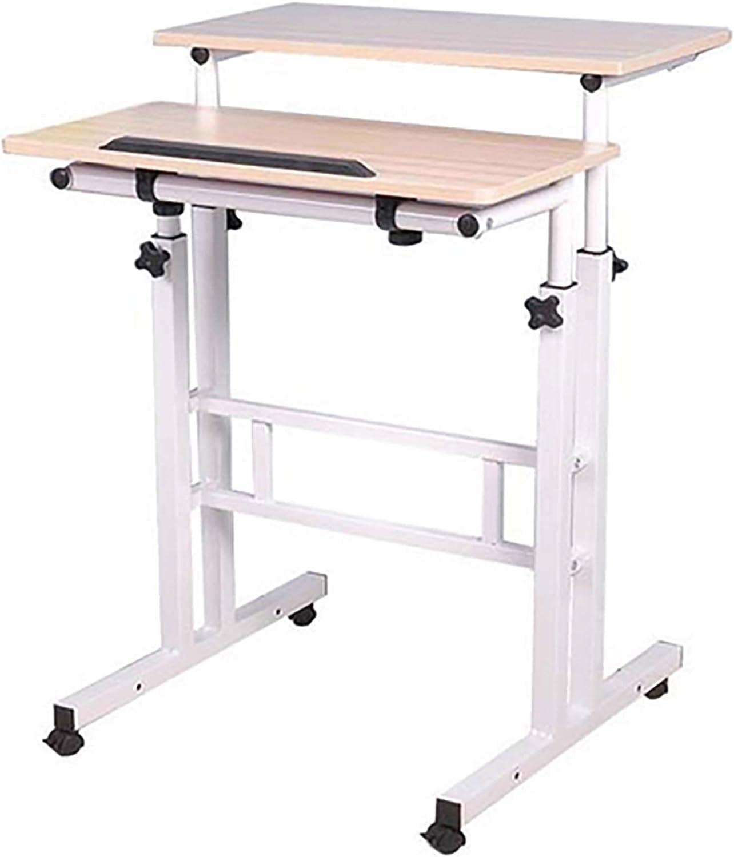 Mind Reader Multipurpose Home Office Computer Desk, Sit and Stand Desk, Workstation Desk, White