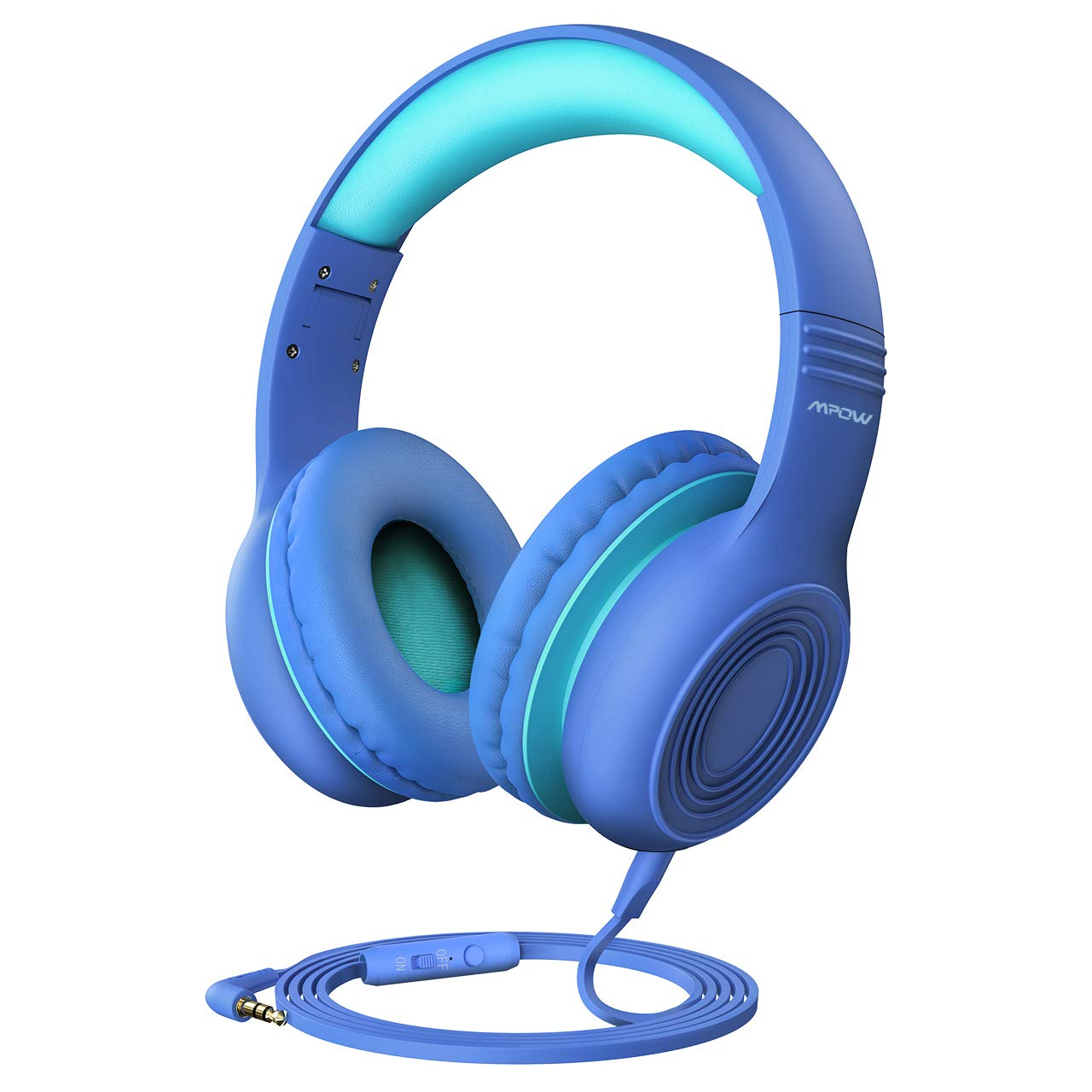 Mpow CH6 Kids Headphones, Volume Limited Over Ear Kids Headset with 3.5mm Audio Jack for Children Boys Girls, Wired Headphone Safe Children Headset for Smartphone, Tablets, laptops, Computers, mp3/4
