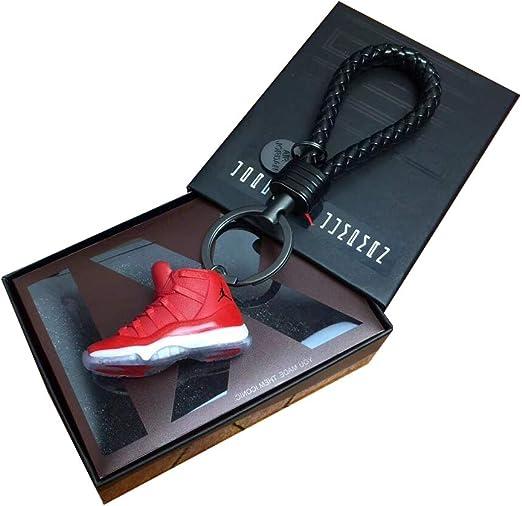 AJ1 20 Mini sneaker 3D porte clés avec boîte cadeau de Noël