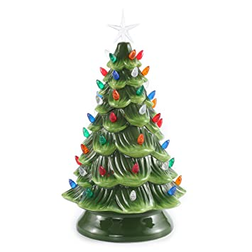 15 tabletop prelit ceramic christmas tree with multicolor bulbs christmas decorations by joiedomi - Ceramic Christmas Decorations