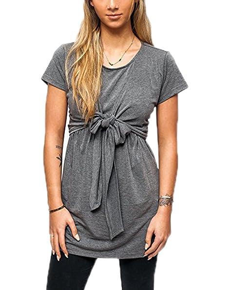 jackmai Ropa de la Lactancia Materna de la Moda de la Mujer Embarazada, Camiseta de