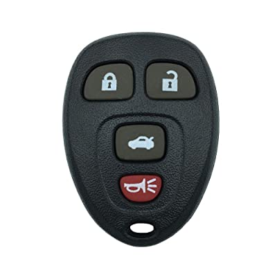 Replacement Keyless Entry Remote Key Fob Shell Case with 4 Button Fit for GM Chevrolet Chevy Cadillac Buick: Car Electronics