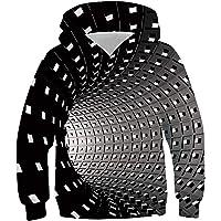 Idgreatim Ragazzi Felpa con Cappuccio 3D Print Pullover Felpe con Cappuccio Jumpers 4-16Y
