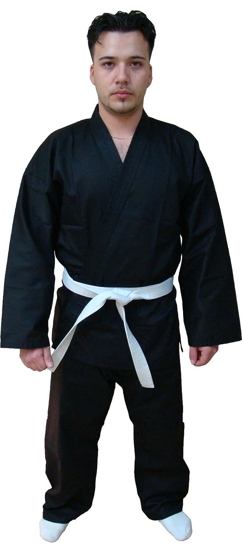 Woldorf Single織りJiu Jitsu着物ブラックnoロゴサイズ4