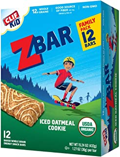 product image for Clif Kid Zbar, Organic Granola Bars, Iced Oatmeal Cookie, 1.27 Oz Bars, 12 Ct